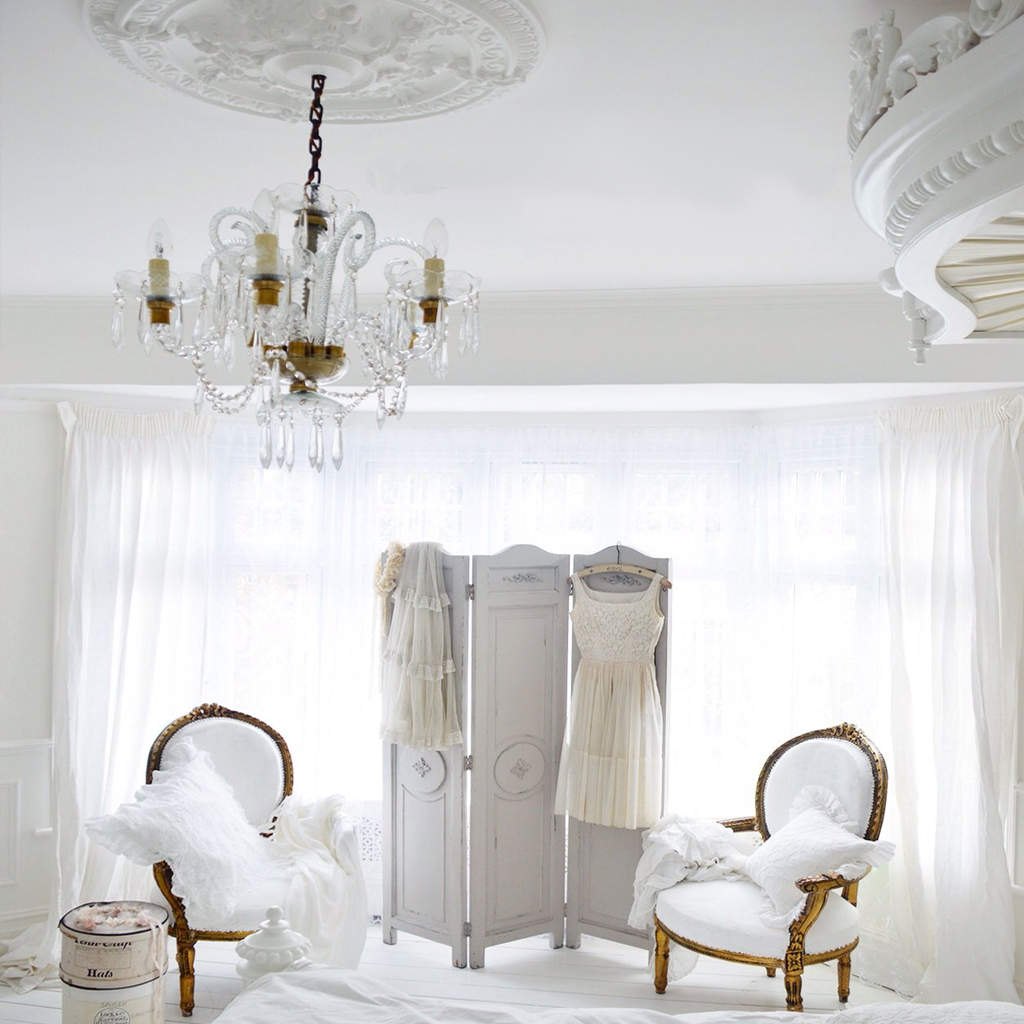 french bedroom white walls