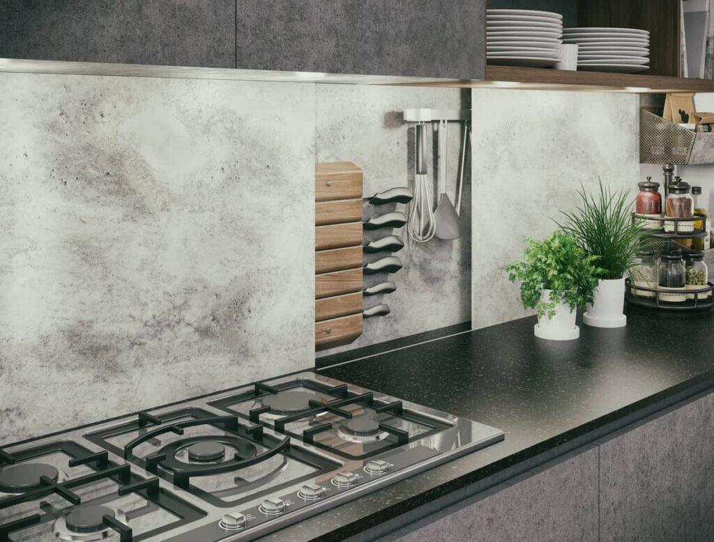Kitchen concealed storage