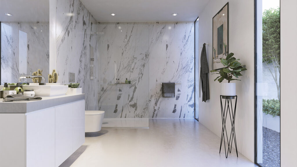 LIGHTENING MARBLE BATHROOM