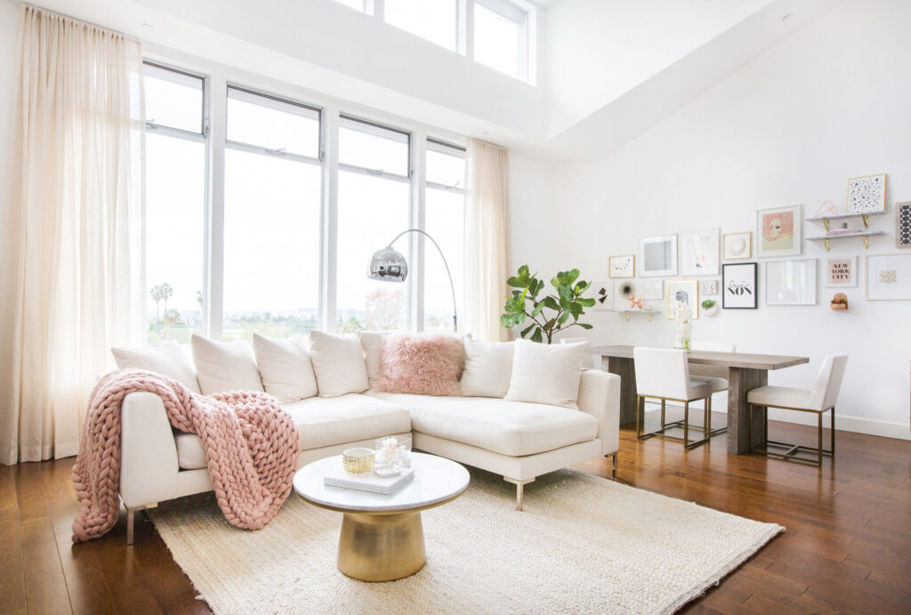 millennial pink in interior design
