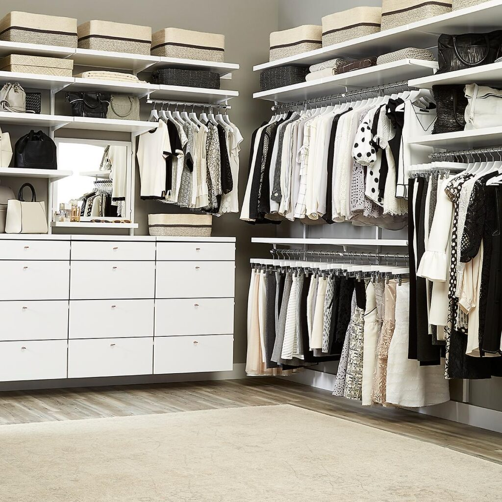 drawers in smart closet