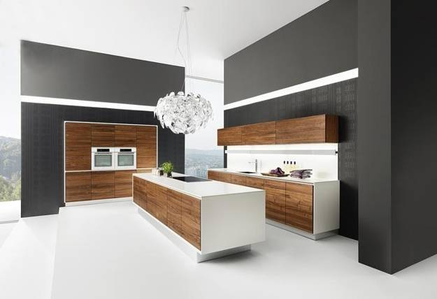 contemporary wooden kitchen